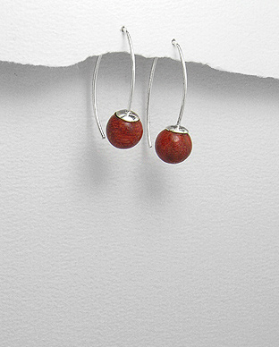 Sponge Coral Ball Earrings