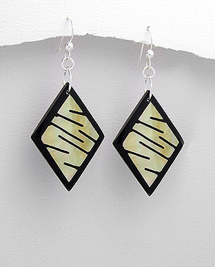 Beach Line Silver Earrings