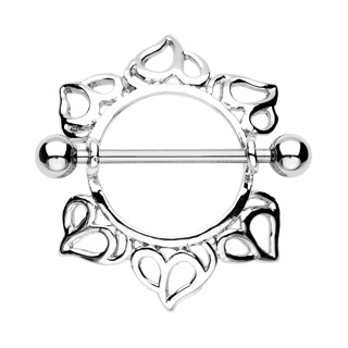 Surgical Steel Heart Nipple Shield Ring