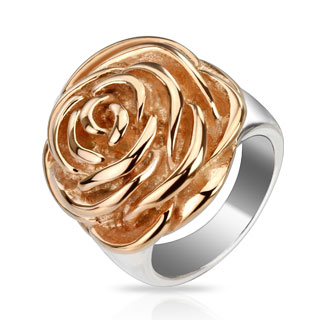 Rose Gold IP Rose Ring