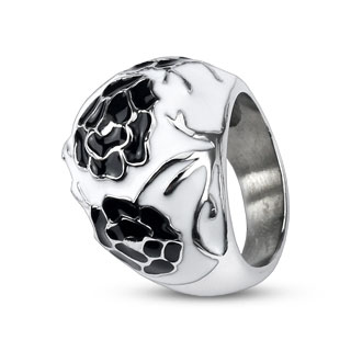 Black Flowers Ring