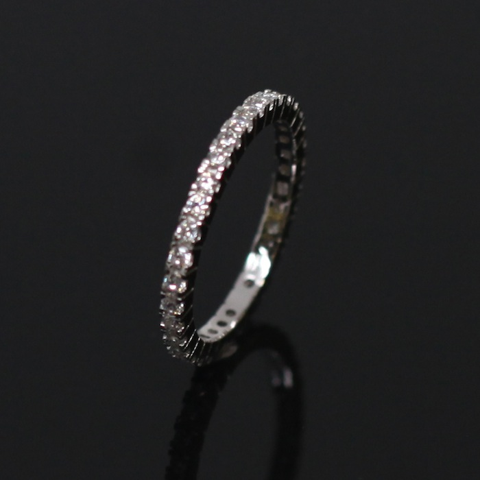 Clear CZ Completely Paved Ring