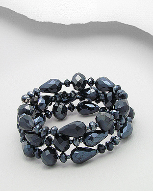 Blue Crystal Glass Bracelet