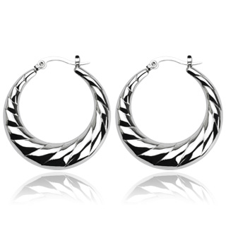 Crescent Moon Layered Earring