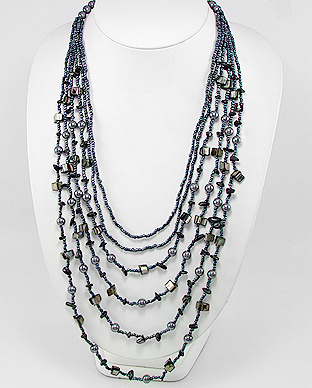 Midnight Blue Casual Necklace