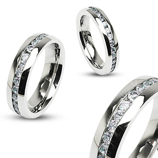Eternity Clear Gems Ring