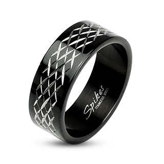 Black 'XXX' Etched Ring