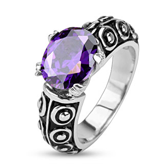 Violet Oval Gem of the Sea Cast Ring