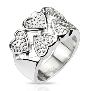 Queen of Hearts Crown Cast Ring