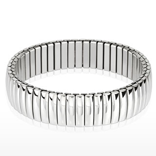 Dome Bar Segmented Stretch Bracelet