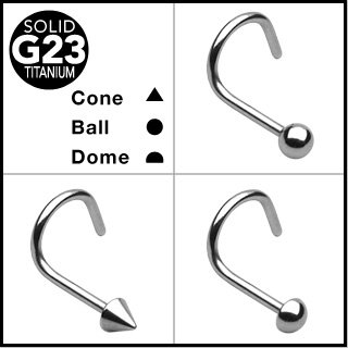 Solid Titanium Nose Screw